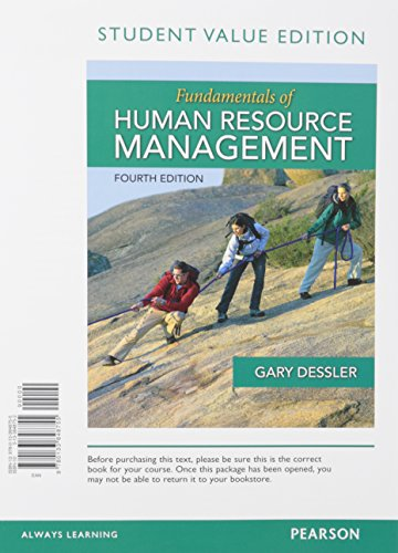 9780133972894: Fundamentals of Human Resource Management, Student Value Edition Plus MyLab Management with Pearson eText -- Access Card Package (4th Edition)