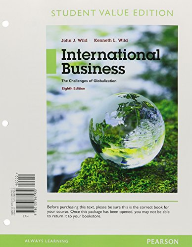 9780133972917: International Business: The Challenges of Globalization, Student Value Edition Plus Mymanagementlab with Pearson Etext -- Access Card Package