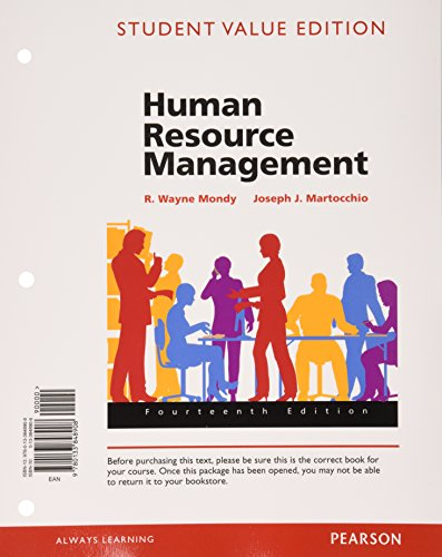9780133972931: Human Resource Management, Student Value Edition Plus MyLab Management with Pearson eText -- Access Card Package (14th Edition)