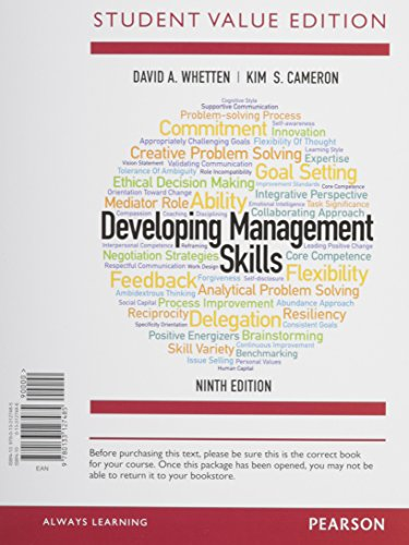 9780133972986: Developing Management Skills, Student Value Edition Plus MyLab Management with Pearson eText -- Access Card Package (9th Edition)