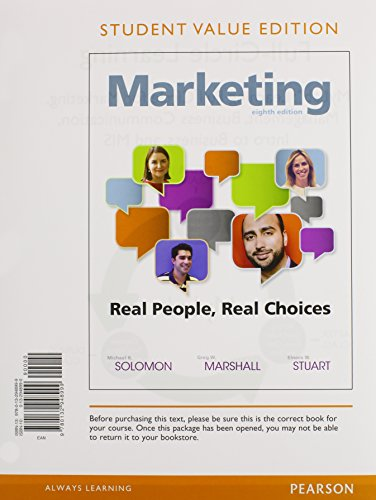 9780133973136: Marketing: Real People, Real Choices, Student Value Edition Plus MyMarketingLab with Pearson eText -- Access Card Package (8th Edition)