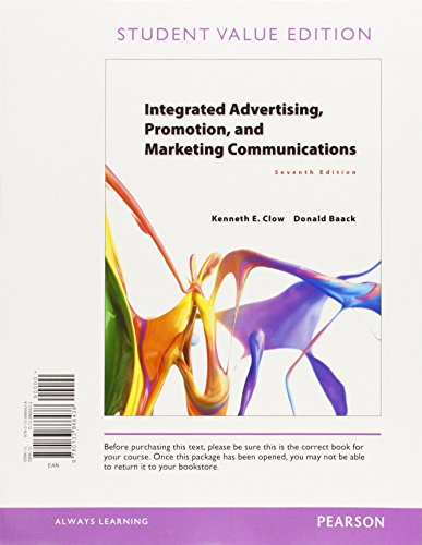 9780133973143: Integrated Advertising, Promotion, and Marketing Communications, Student Value Edition, Plus Mymarketinglab with Pearson Etext -- Access Card Package