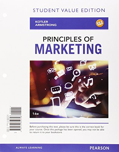 9780133973303: Principles of Marketing, Student Value Edition Plus MyMarketingLab with Pearson eText -- Access Card Package (16th Edition)