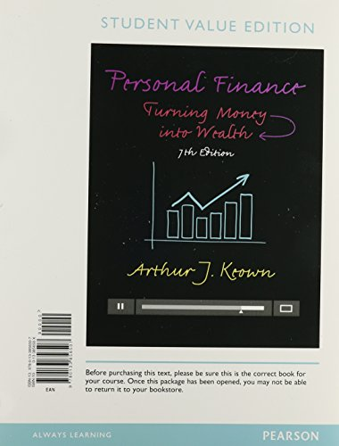 9780133973334: Personal Finance + MyFinanceLab Passcode: Turning Money into Wealth