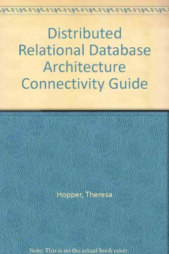 9780133973402: Distributed Relational Database Architecture