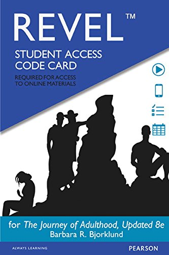 9780133973754: Revel for Journey of Adulthood -- Access Card (8th Edition)