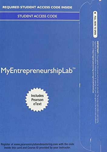 9780133974096: MyLab Entrepreneurship with Pearson eText -- Access Card -- for Entrepreneurship: Sucessfully Launching New Ventures