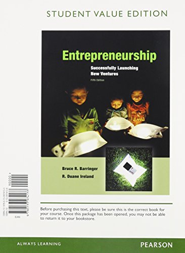 9780133974133: Entrepreneurship: Sucessfully Launching New Ventures, Student Value Edition (5th Edition)