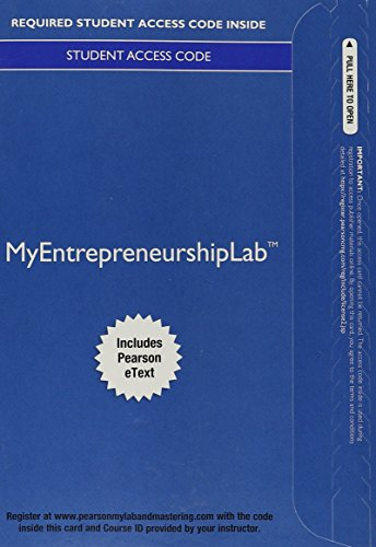 MyEntrepreneurshipLab with Pearson eText -- Access Card: Norman M. Scarborough,