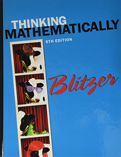 9780133974461: Thinking Mathematically, Student's Solutions Manual, Learning Guide and MyMathLab -- Valuepack Access Card (6th Edition)