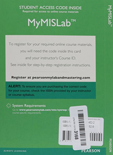 9780133974522: MyMISLab with Pearson eText -- Access Card -- for Management Information Systems: Managing the Digital Firm