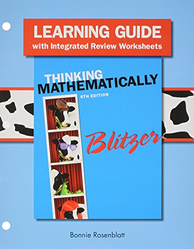 9780133975536: Learning Guide plus MyLab Math Student Access Card for Thinking Mathematically (6th Edition)