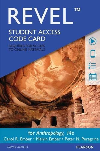 9780133976076: REVEL for Anthropology -- Access Card (14th Edition)