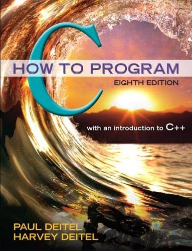 9780133976892: C How to Program (8th Edition)