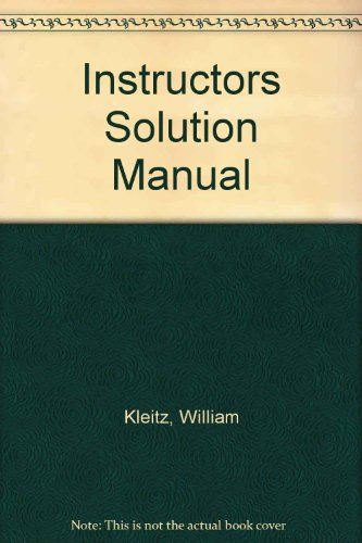 9780133977462: Instructors Solution Manual