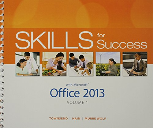 9780133978681: Skills for Success with Office 2013 Volume 1 & Skills for Success with Windows 7 Getting Started & MyLab IT with Pearson eText -- Access Card Package