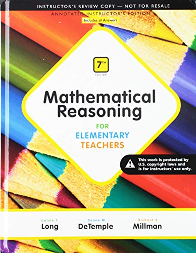 9780133978803: Mathematics Activities plus MML for Mathematical Reasoning for Elementary Teachers (7th Edition)