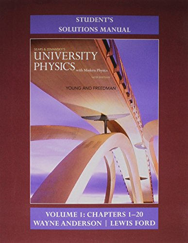 9780133981711: Student's Solution Manual for University Physics with Modern Physics Volume 1 (Chs. 1-20)