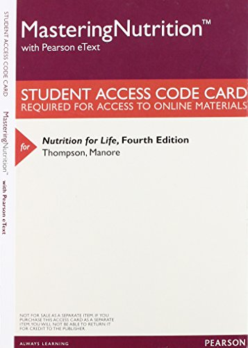 9780133983098: MasteringNutrition with MyDietAnalysis with Pearson eText -- Valuepack Access Card -- for Nutrition for Life