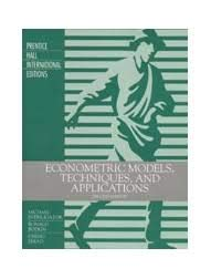 9780133984132: Econometric Models, Techniques, And Applications