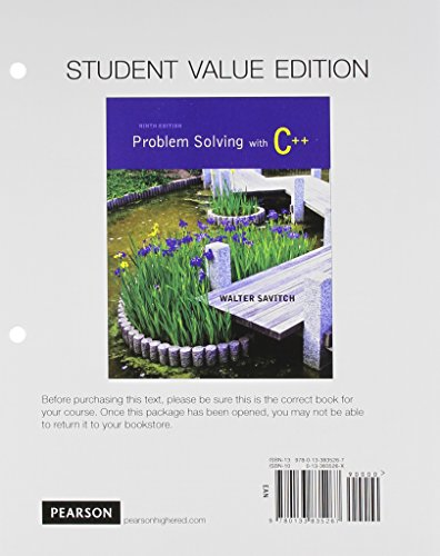 9780133984309: Problem Solving with C++, Student Value Edition, plus MyProgrammingLab with Pearson eText Access Card Package and C++ Integrated Development Environment Resource Kit Package (9th Edition)