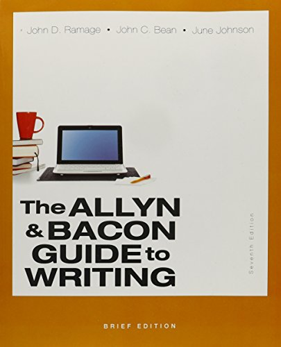 9780133988567: Allyn & Bacon Guide to Writing, Brief Edition,The & Little Penguin Handbook, The Package