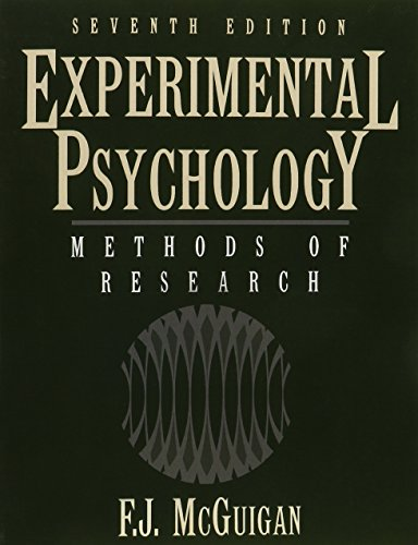 9780133988840: Experimental Psychology Methods of Research (7th Edition)