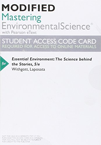 9780133990058: Modified MasteringEnvironmentalScience with Pearson eText -- ValuePack Access Card -- for Essential Environment: The Science Behind the Stories