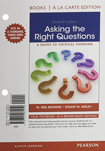 9780133991642: Asking the Right Questions, Books a la Carte Edition Plus MyWritingLab -- Access Card Package (11th Edition)