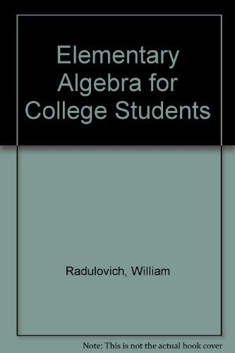 9780133992212: Elementary Algebra for College Students