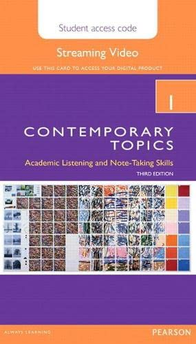 9780133994155: Contemporary Topics 1 Streaming Video Access Code Card