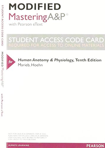 9780133994988: Modified MasteringA&P with Pearson eText -- ValuePack Access Card -- for Human Anatomy & Physiology