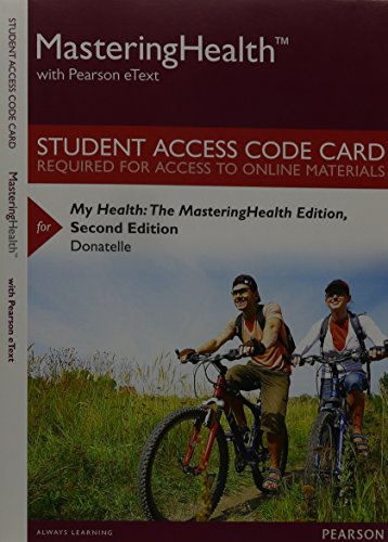9780133996364: Mastering Health with Pearson eText -- Standalone Access Card -- for My Health: The Mastering Health Edition (2nd Edition)