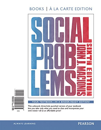 9780133996678: Social Problems, Books a la Carte plus NEW MySocLab -- Access Card Package (6th Edition)