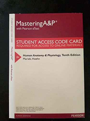 9780133997026: MasteringA&P with Pearson eText -- ValuePack Access Card -- for Human Anatomy & Physiology