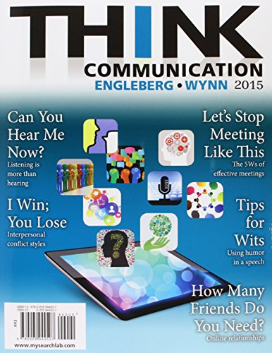 9780133998016: THINK Communication and Say This, NOT That to Your Professor: 36 Talking Tips for College Success (3rd Edition)