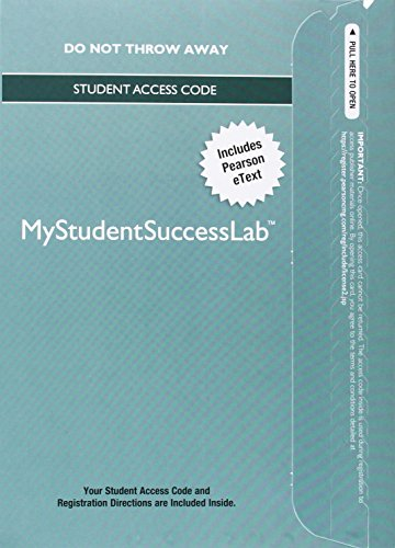 MyLab Student Success with Pearson eText --: Education, Pearson