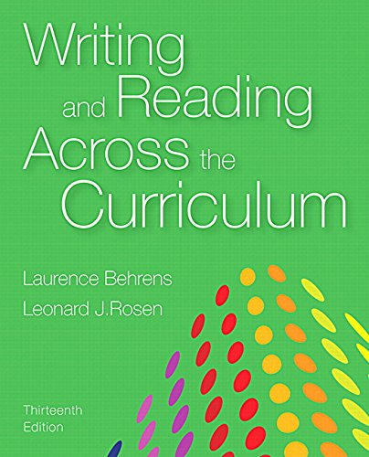 9780133999013: Writing and Reading Across the Curriculum (13th Edition)