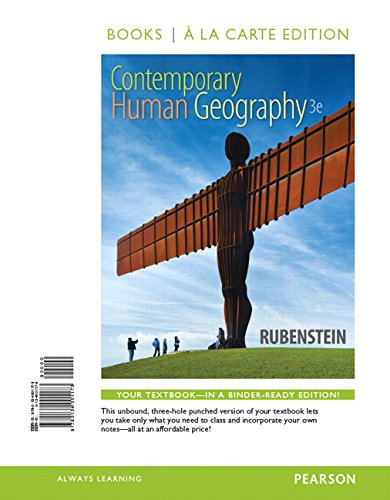 9780134001173: Contemporary Human Geography, Books a la Carte Edition (3rd Edition)