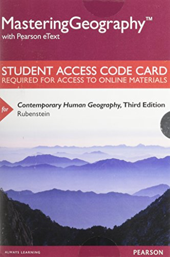 9780134001227: Mastering Geography with Pearson eText -- Standalone Access Card -- for Contemporary Human Geography (3rd Edition)