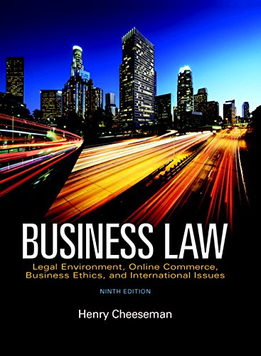 Business Law (9th Edition): Cheeseman, Henry R.