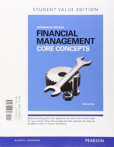 9780134004235: Financial Management: Core Concepts, Student Value Edition Plus MyLab Finance with Pearson eText -- Access Card Package (3rd Edition)