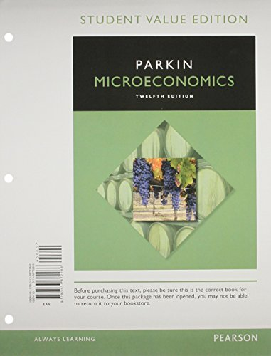 9780134004983: Microeconomics, Student Value Edition Plus MyLab Economics with Pearson eText -- Access Card Package (12th Edition)