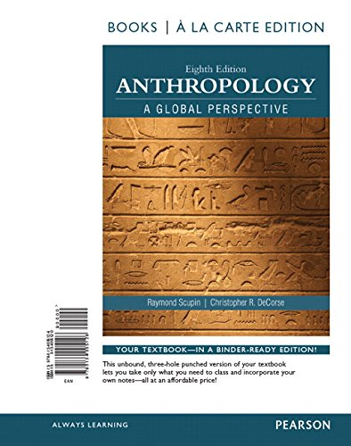 9780134005126: Anthropology A Global Perspective, Books a la Carte Edition (8th Edition)