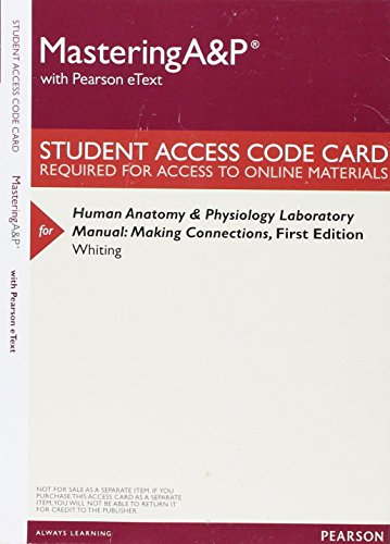 Catharine whiting human anatomy physiology laboratory manual masteringap with pearson etext valuepack access whiting fandeluxe Gallery