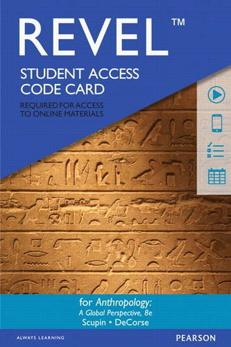 9780134007168: REVEL for Anthropology: A Global Perspective - Access Card (8th Edition)