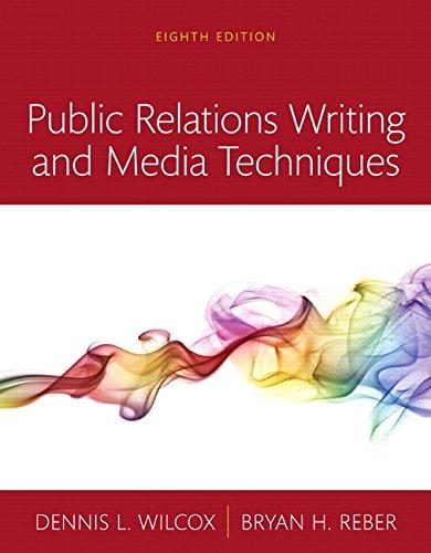 9780134010496: Public Relations Writing and Media Techniques, Books a la Carte (8th Edition)