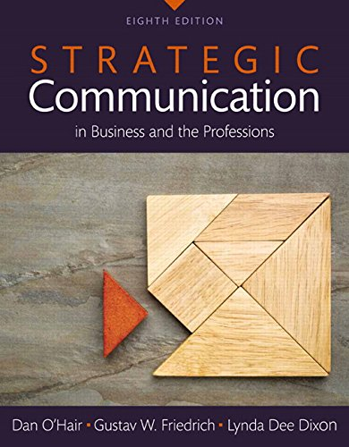 9780134011684: Strategic Communication in Business and the Professions, Books a la Carte (8th Edition)