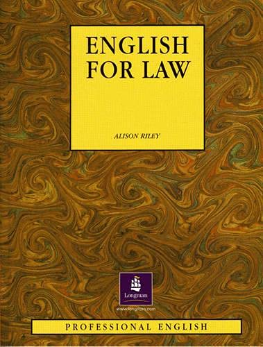 9780134012094: ENGLISH FOR LAW 1st Edition - Paper (Professional English)
