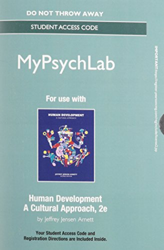 9780134012308: NEW MyLab Psychology without Pearson eText -- Standalone Access Card -- for Human Development: A Cultural Approach (2nd Edition)